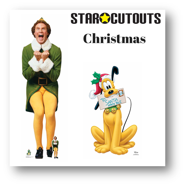 STAR CUTOUTS RECOMMENDED CHRISTMAS LIFESIZE CARDBOARD CUTOUTS PARTY SUPPLIES
