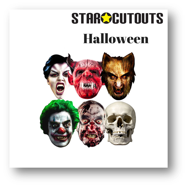 RECCOMENDED HALLOWWEN LIFESIZE CARDBOARD CUTOUTS MASKS  STAR CUTOUTS PARTY SUPPLIES